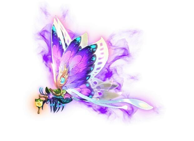 紫翼の光蝶