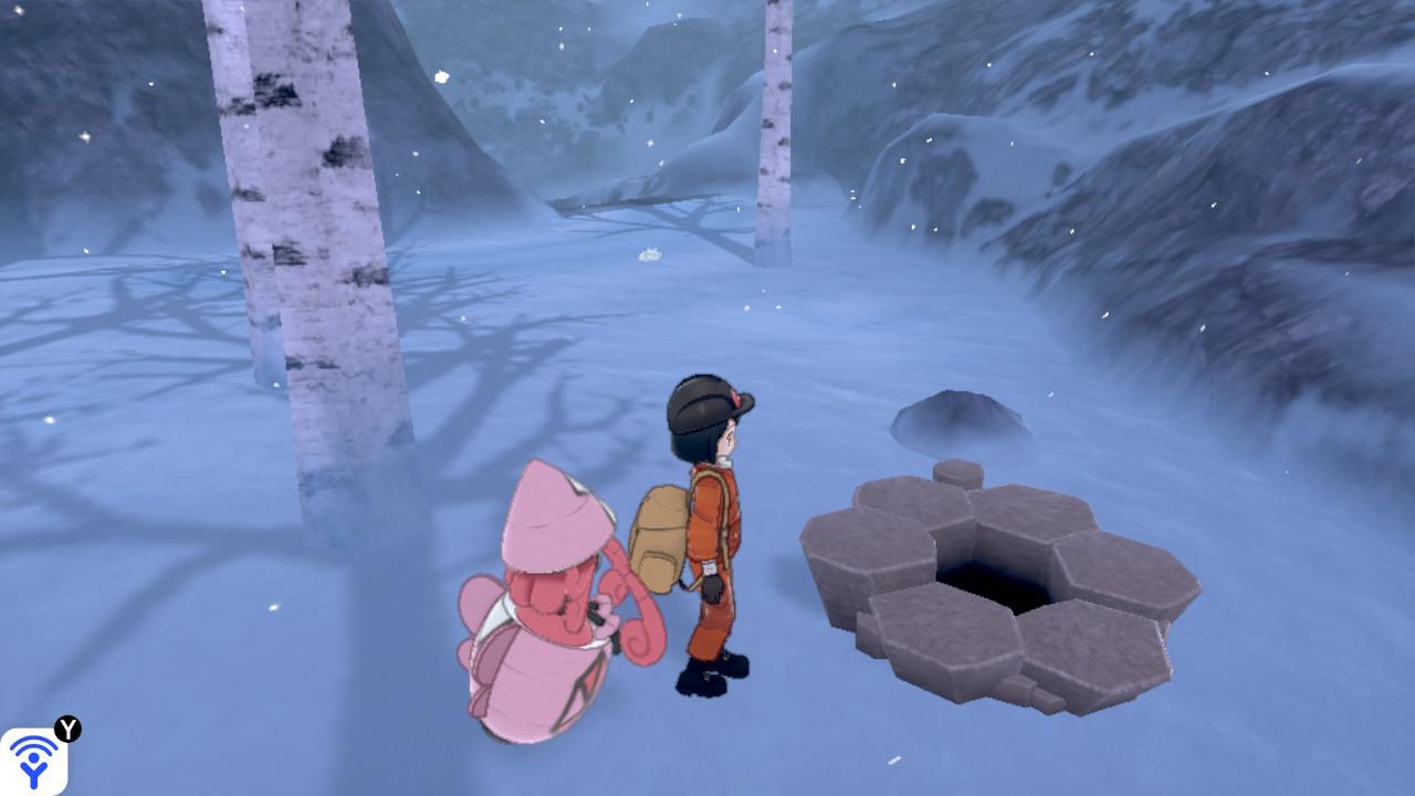 冠 の 雪原 巣 穴
